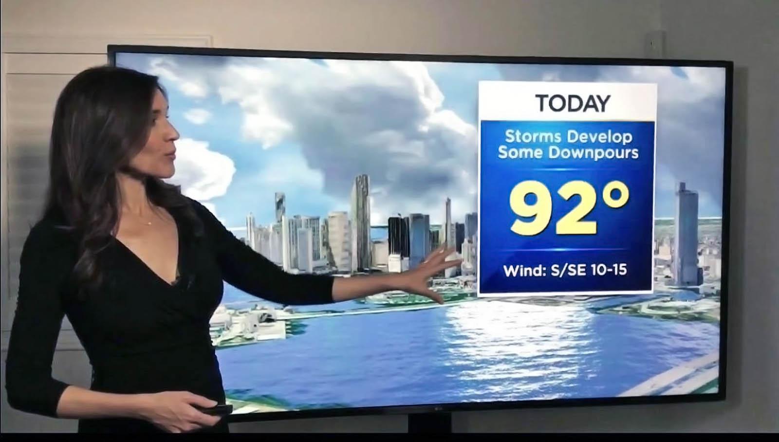 Lissette Gonzalez briefing weather updates