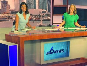 Roxanne Vargas with Sheli Muñiz at NBC Miami