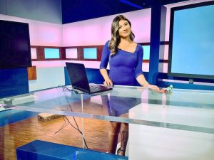 Ruthie Polinsky on set at NBC Miami
