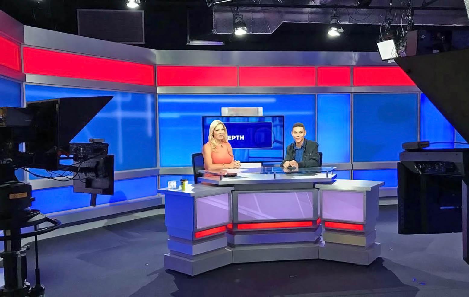 Spectrum Bay News 9 St. Petersburgh interview set