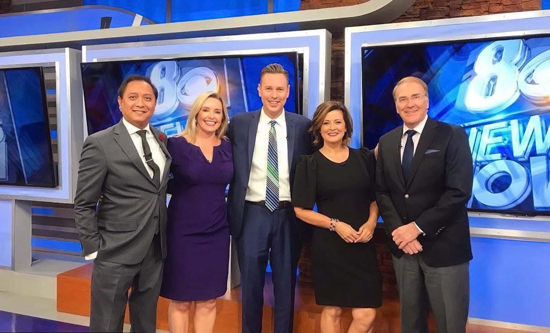 Tedd Florendo, Kirsten Joyce, Brian Loftus, Denise Valdez, and Chris Maathuis on 8 News Now
