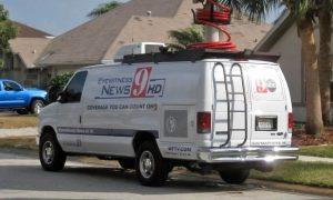 WFTV News Live Broadcasting News van