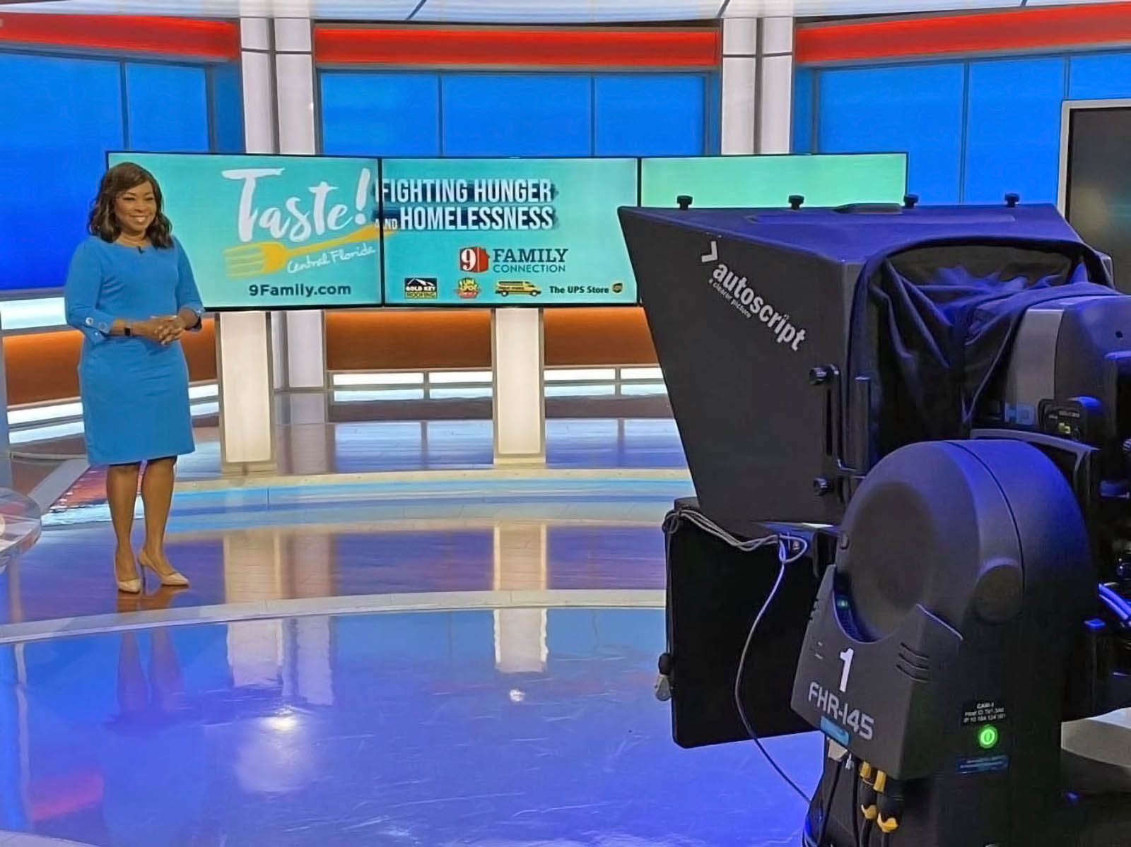 WFTV News live broadcasting set