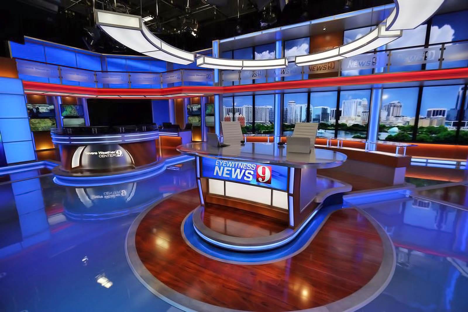 WFTV News live broadcasting studio