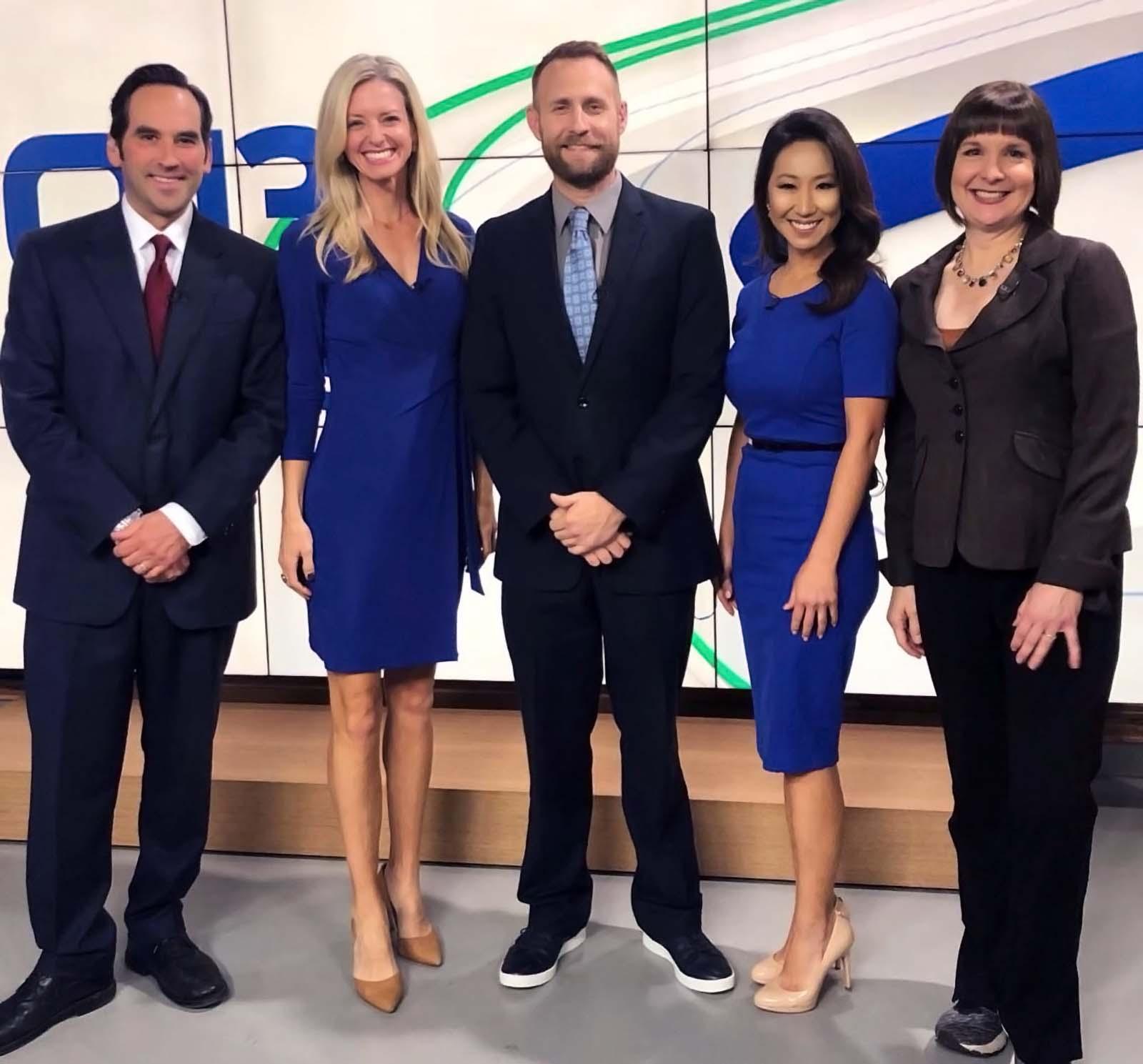 Q13 Fox News Anchors - Walter Kelley, Erin Mayovsky, Tim Joyce, Grace Lim, and M.j. McDermott