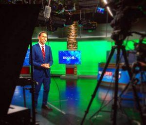 Zach Rael on green screen