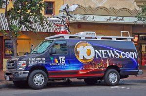 10 News San Diego satellite van