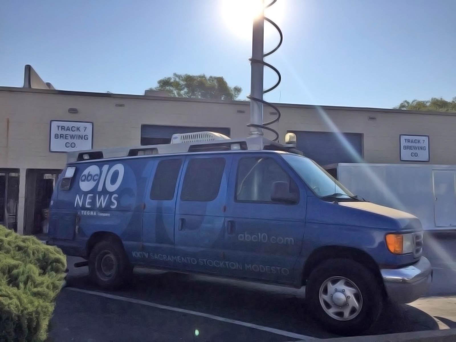 ABC 10 News Sacramento's Van for Live Coverage
