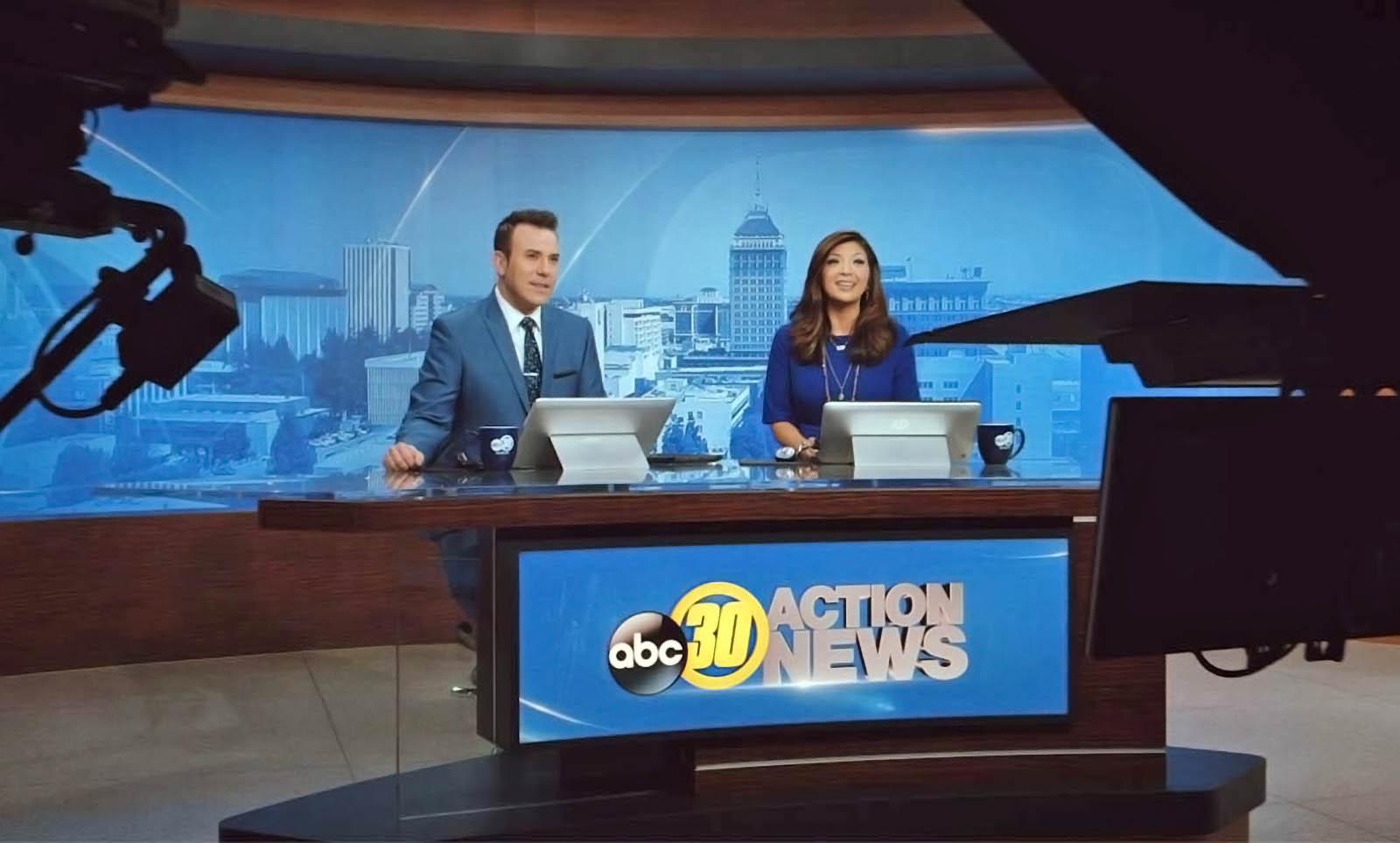 ABC30 News Fresno Newscaster in Studio