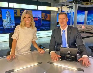 Allison Gargaro with Josh Sanders at 23 ABC News Studio