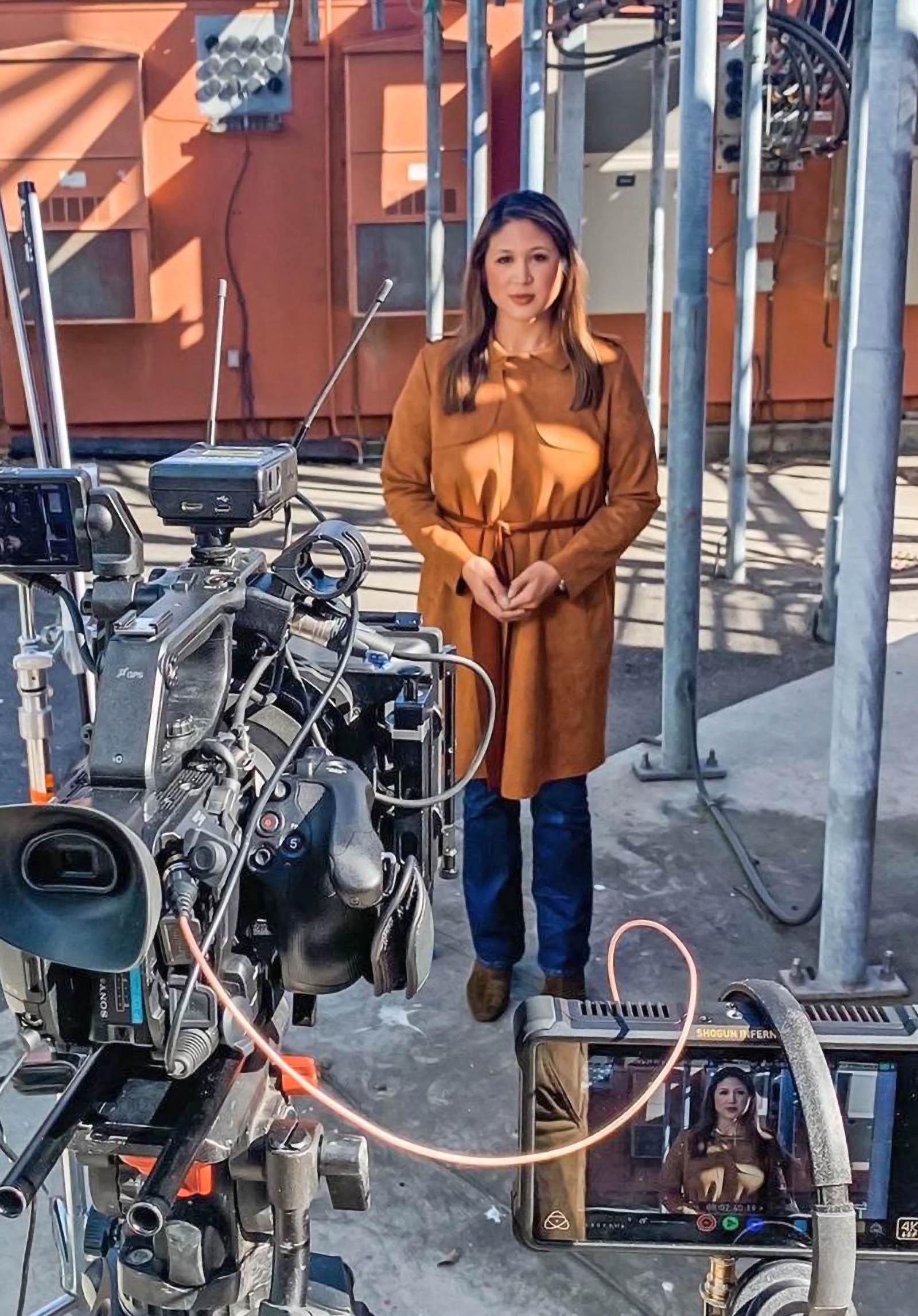 Ananda Rochita on live camera of ABC 10 News Sacramento