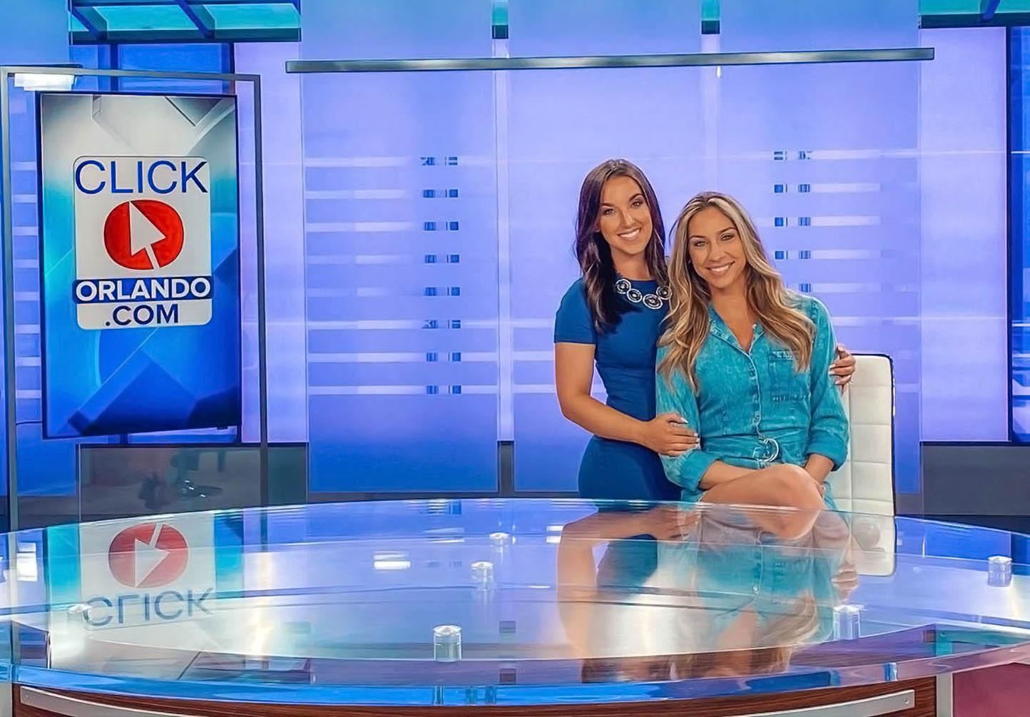 Brittany Gercken at ClickOrlando News 6 set