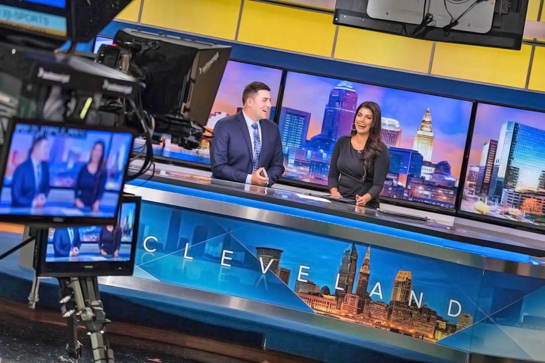 Bryan Shaw and Homa Bash at WEWS News studio