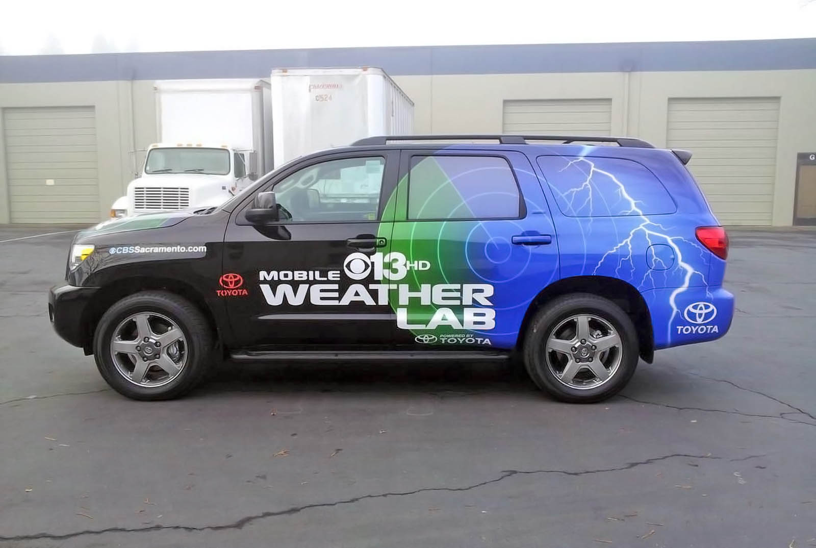 CBS 13 Sacramento live steraming weather van
