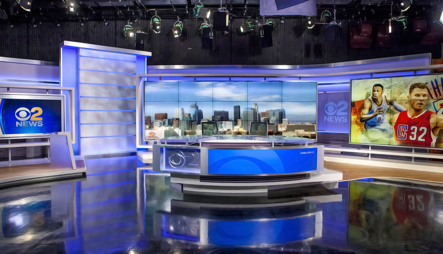 CBS Los Angeles live streaming studio
