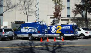 CBS Los Angeles news van