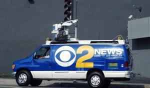 CBS LA satellite DSNG van