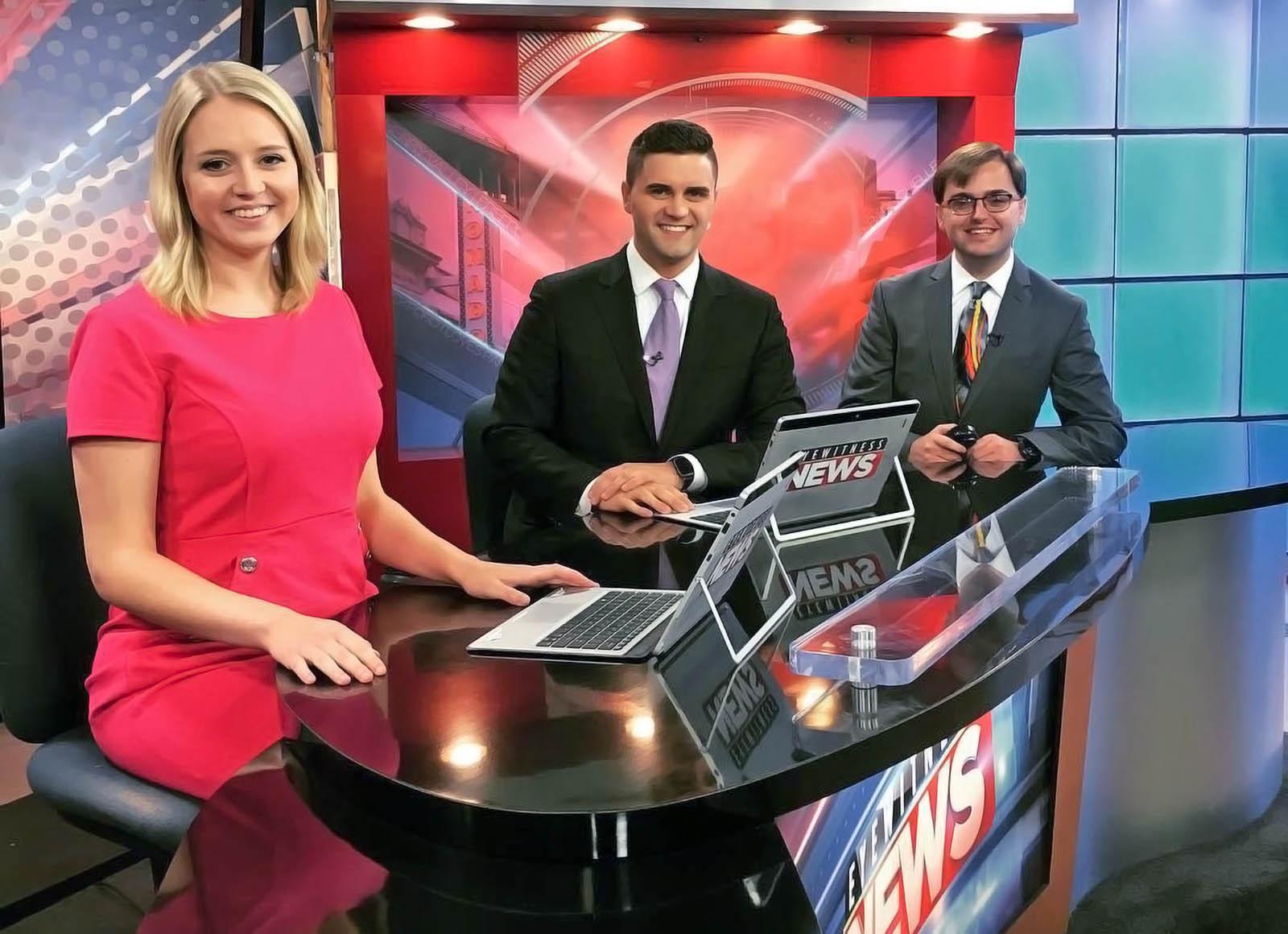 Fox 39 Newscasters at Onair Studio