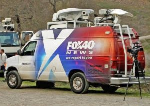 Fox 40 News Sacramento live streaming satellite van
