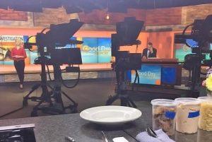Good Day Illinois live broadcasting set