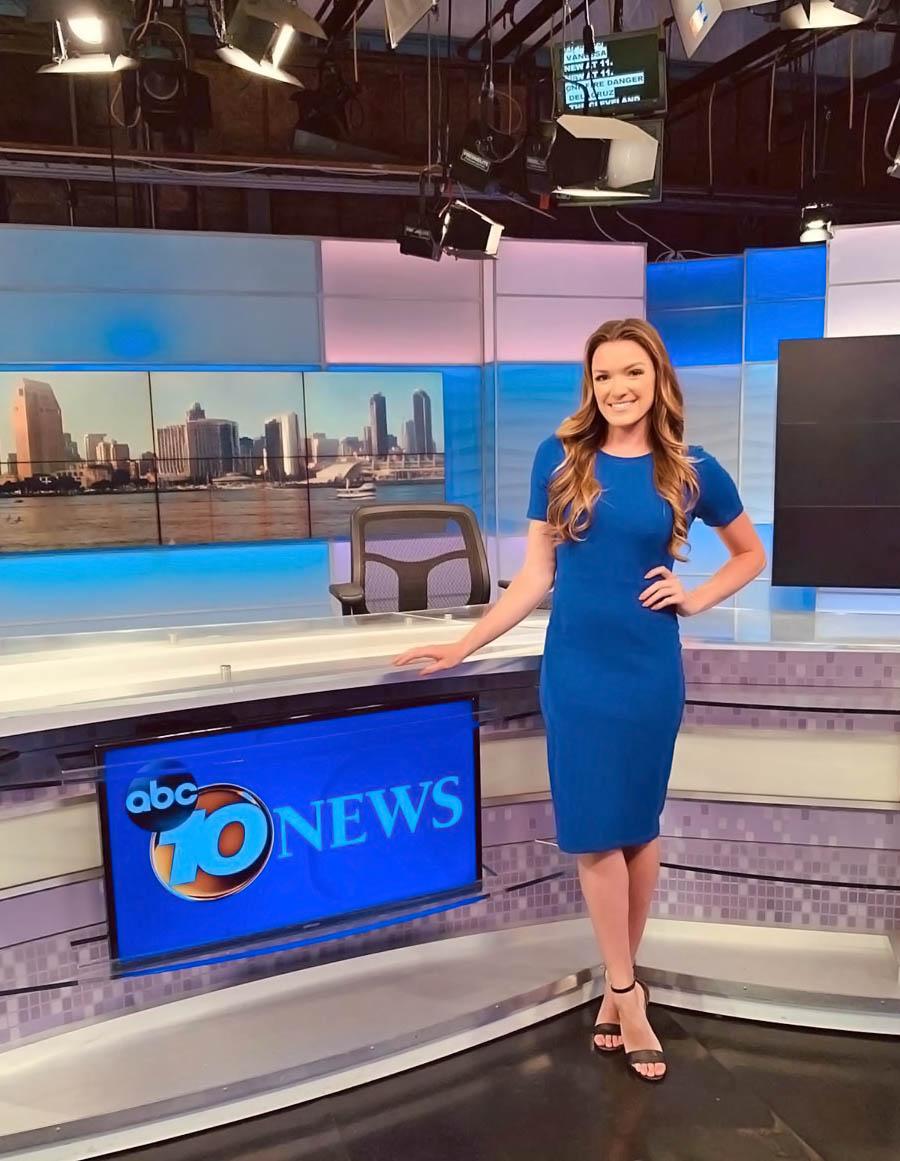 Jen Delacruz at 10 News San Diego studio