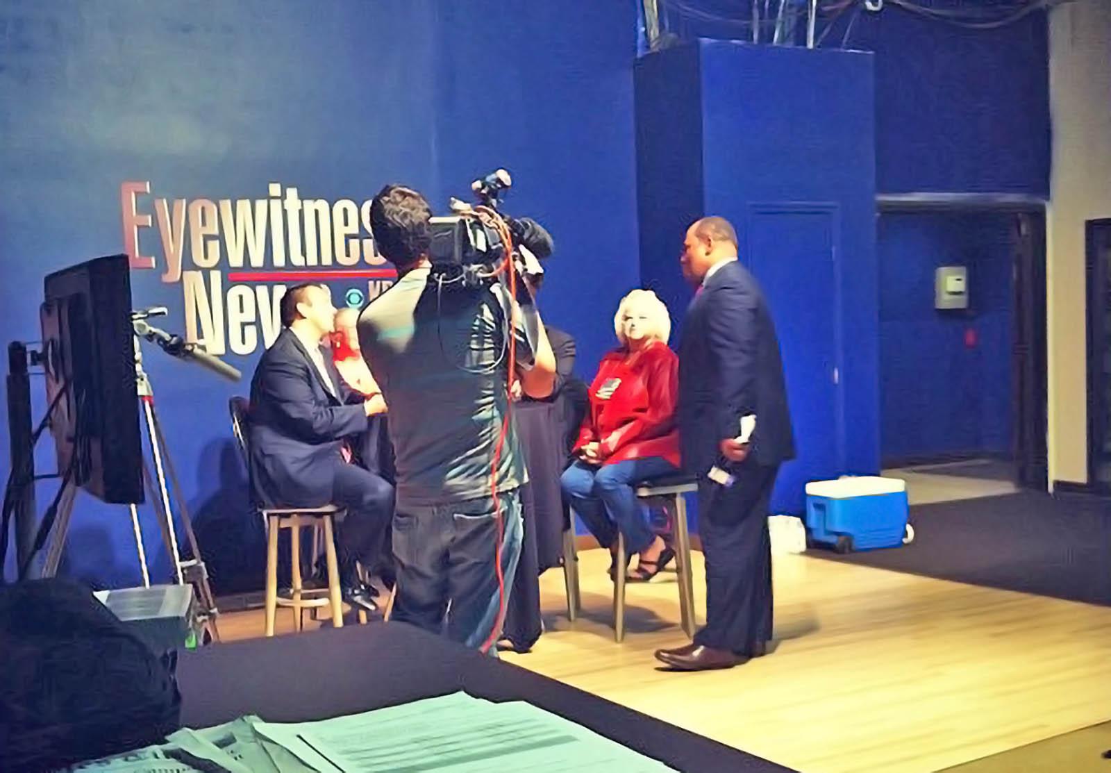 KBAK TV news at News Room