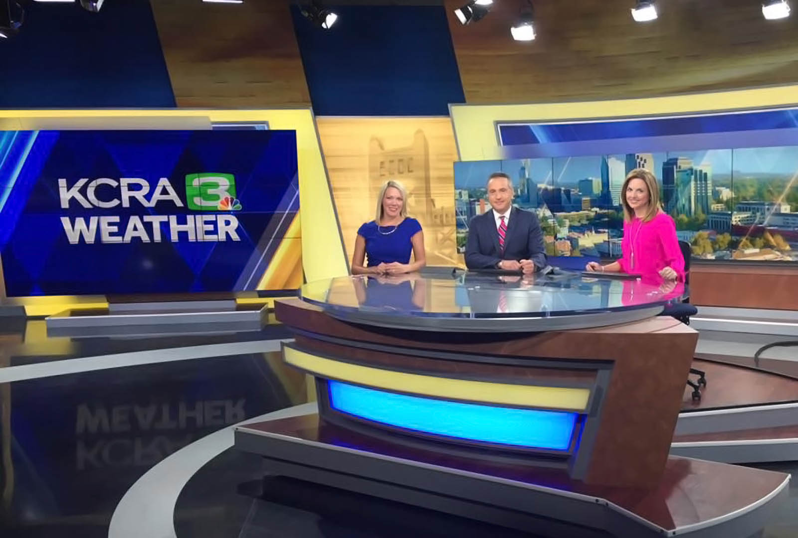 KCRA 3 News weather at Coverage Studio