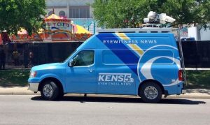 Satellite van for KENS 5 News San Antonio