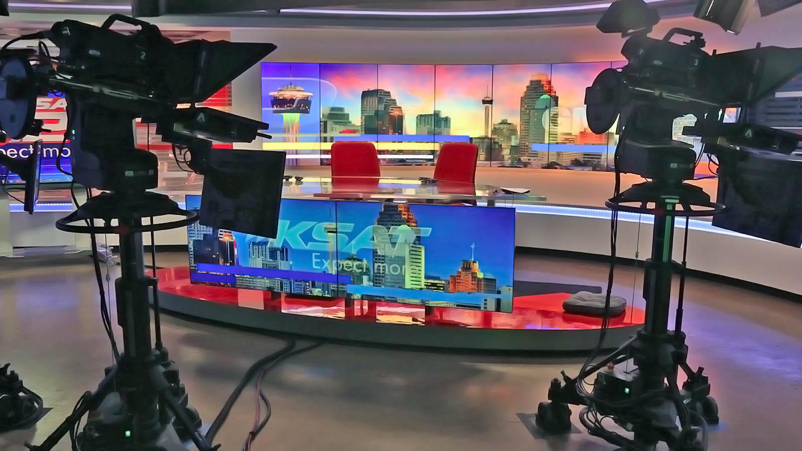 KSAT 12 News live streaming studio