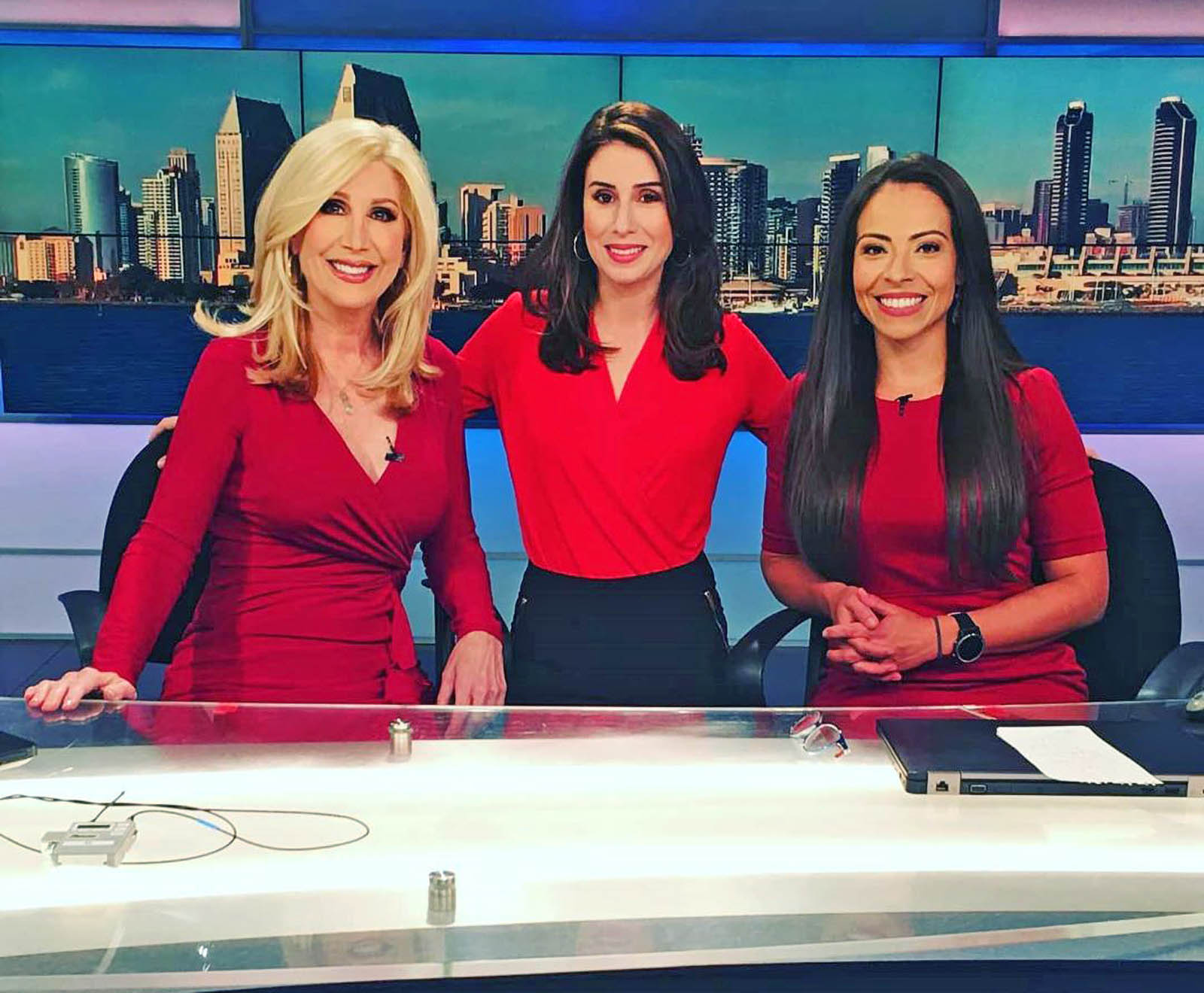 Kimberly Hunt, Lindsey Peña, and Angelica Campos at 10 News San Diego