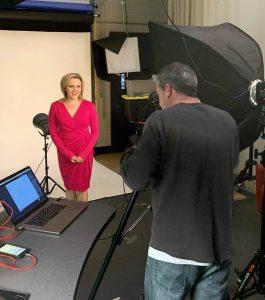 Lena Howland at ABC 10 News Sacramento set