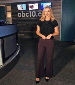 Madison Wade at ABC 10 studio