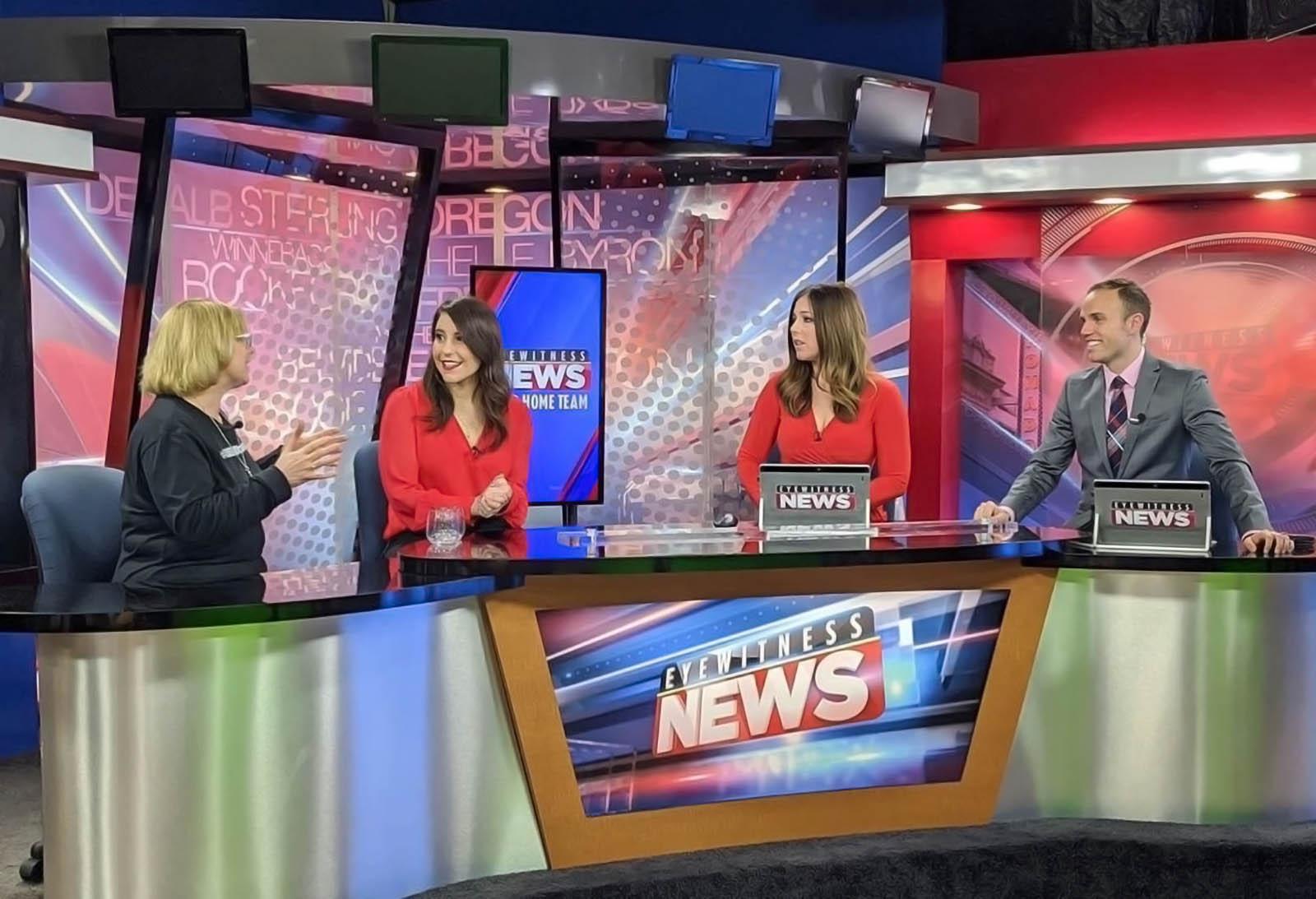 Michelle Abraham, Whitney Martin, with Elliot Grandia Fox 39 News
