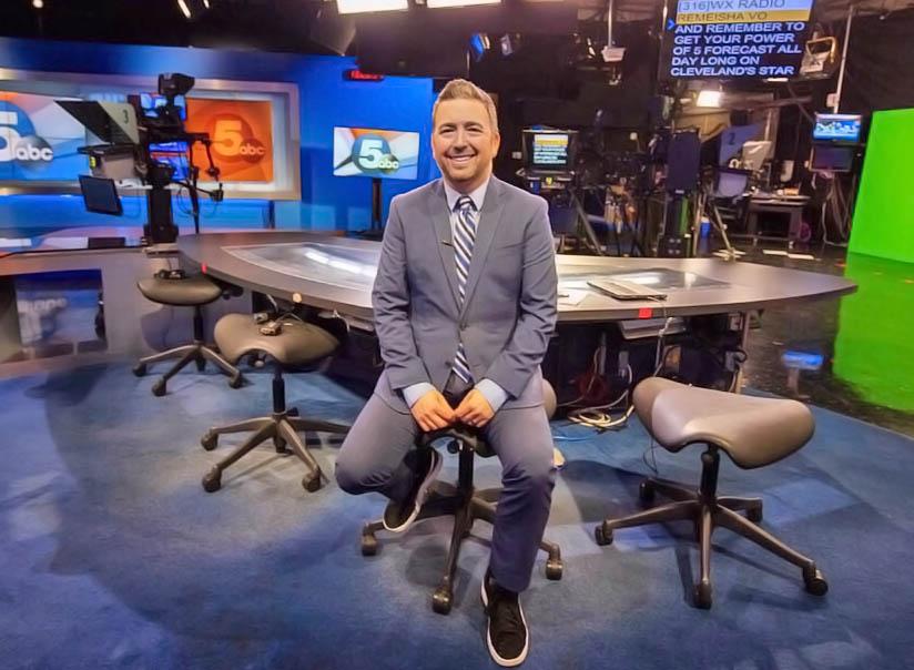Mike Brookbank at WEWS News studios