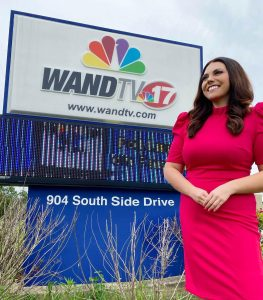 Nikki Crosthwaite at WAND News studios