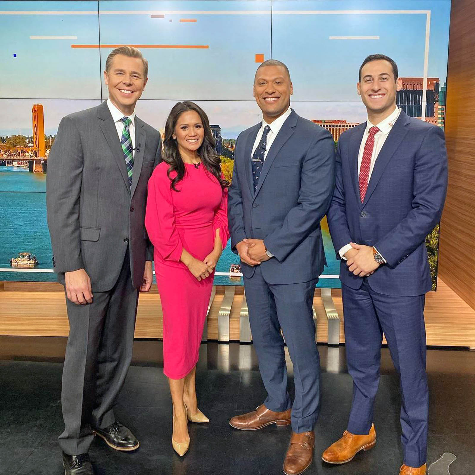 Richard Sharp, Mae Fesai, Pedro Rivera, and Adam Epstein at Studious of Fox 40 News Sacramento