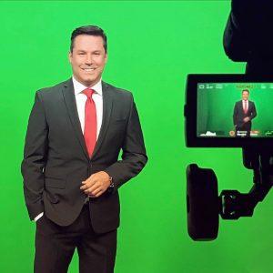 Troy Bridges on green screen of ClickOrlando News 6