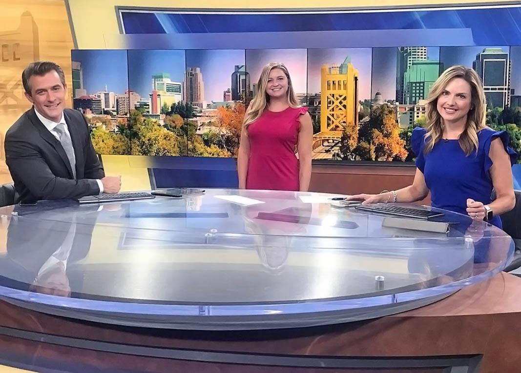 Ty Steele, Sarah Breuner, and Linh at KCRA TV