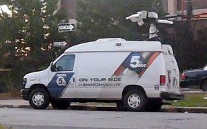 WEWS News live streaming satellite van