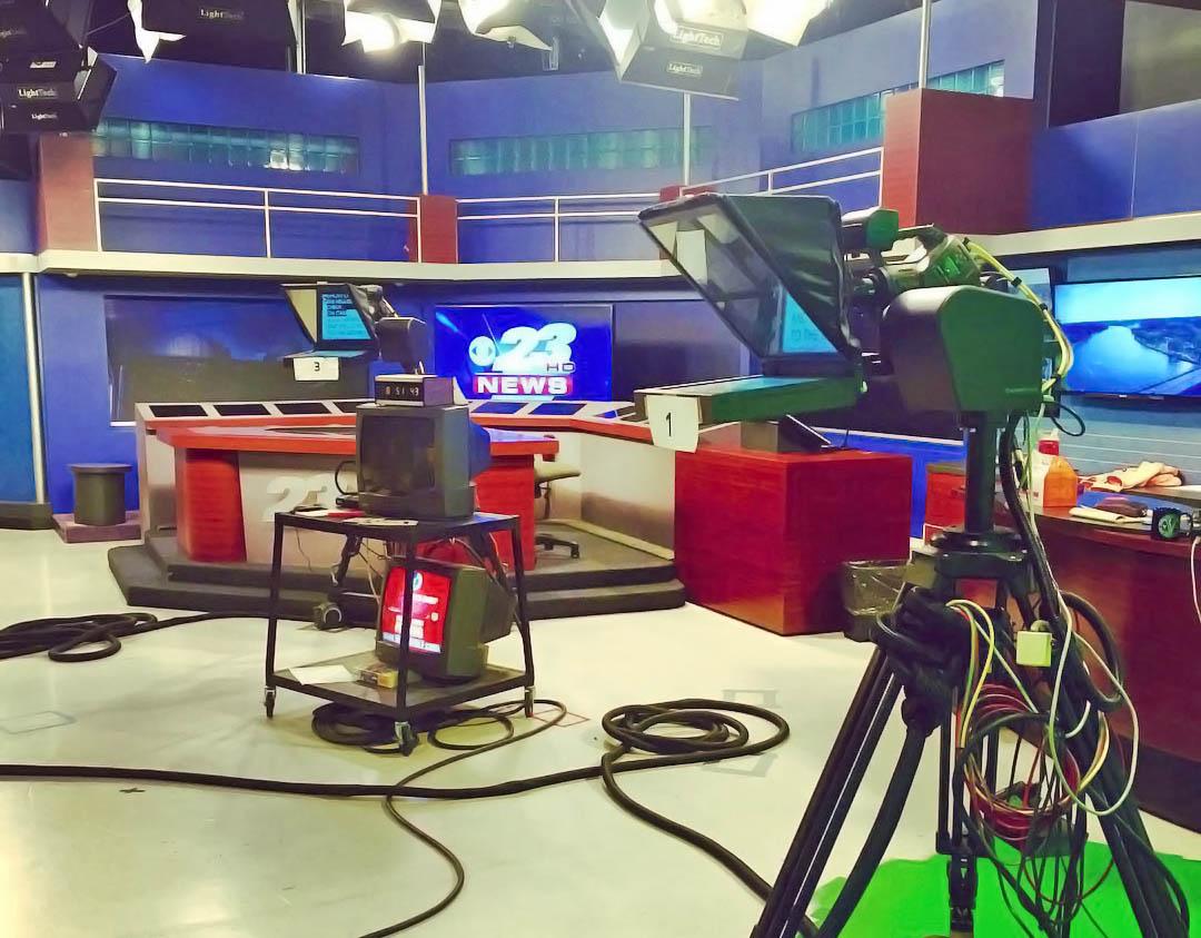 WIFR 23 News live streaming studio