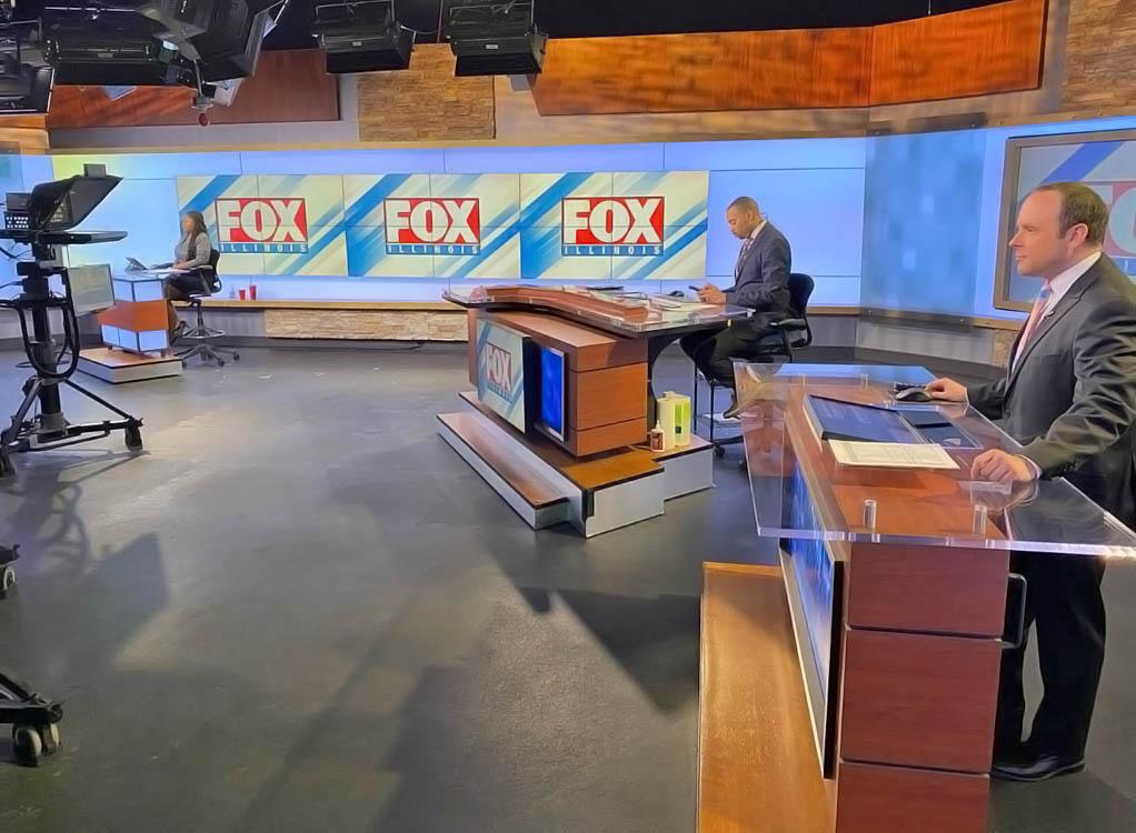 WRSP Fox Illinois live streaming studio