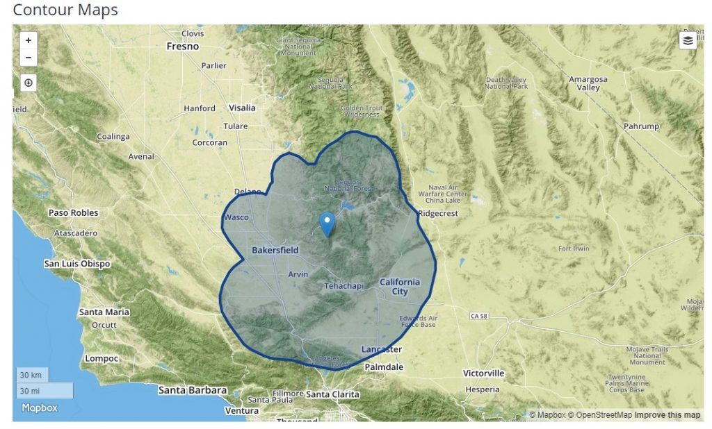 Bakersfielf Now coverage map
