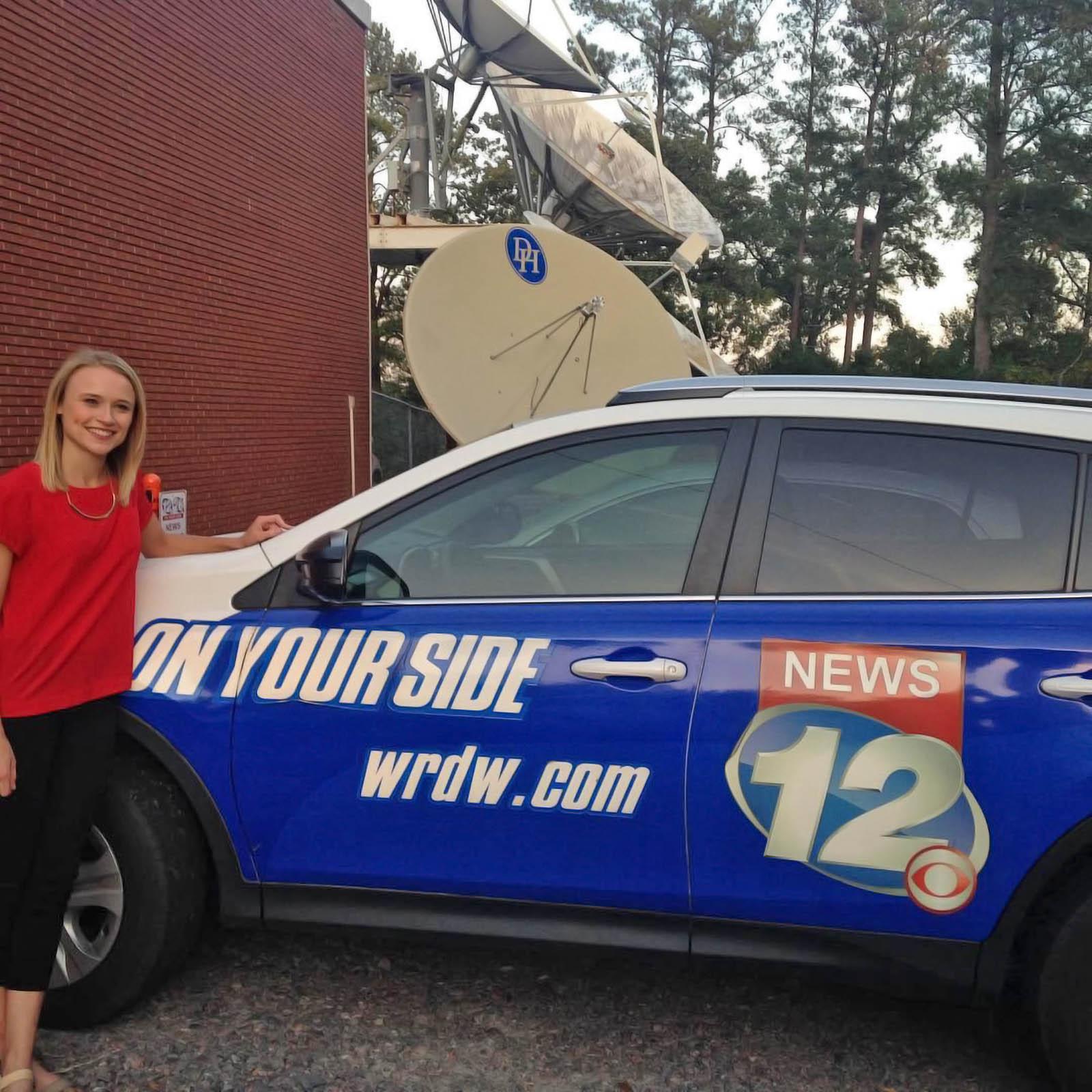 Brooke Elizabeth with WRDW news van