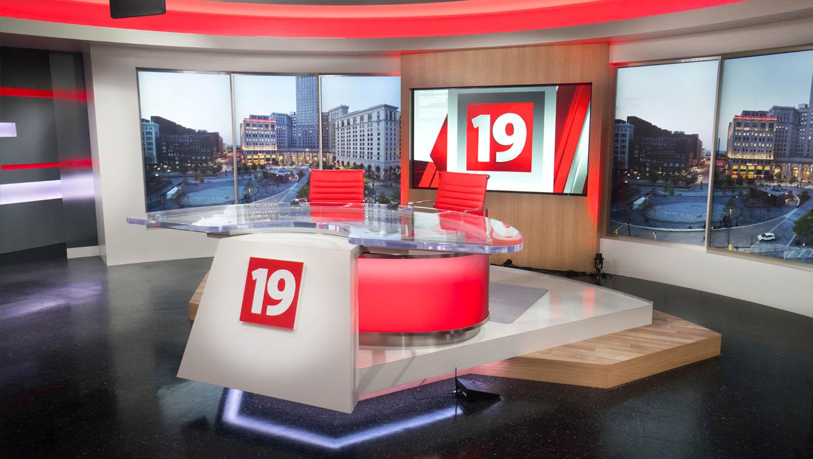 Cleveland 19 News live stream studio