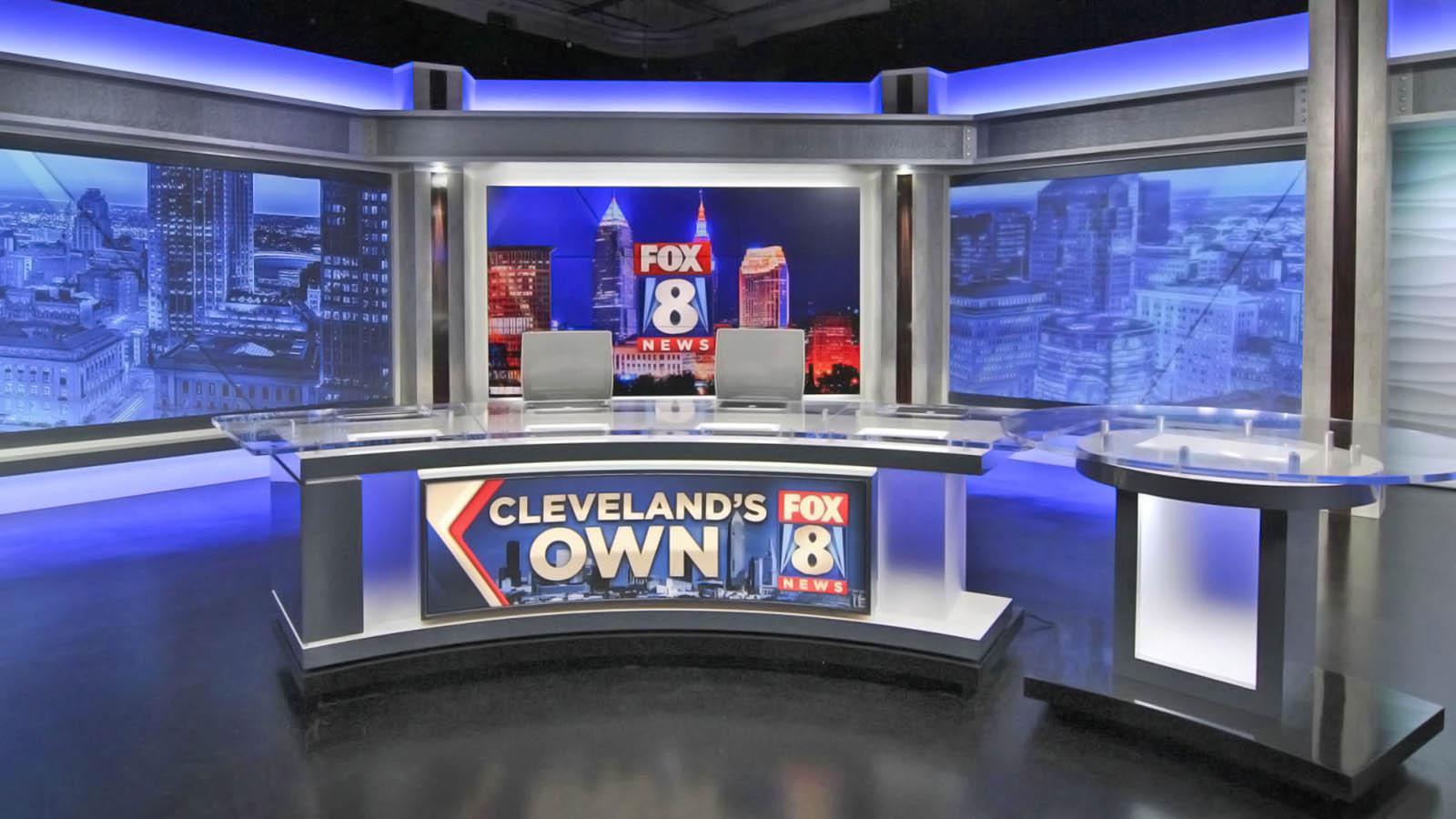 Fox 8 News Cleveland live coverage studio