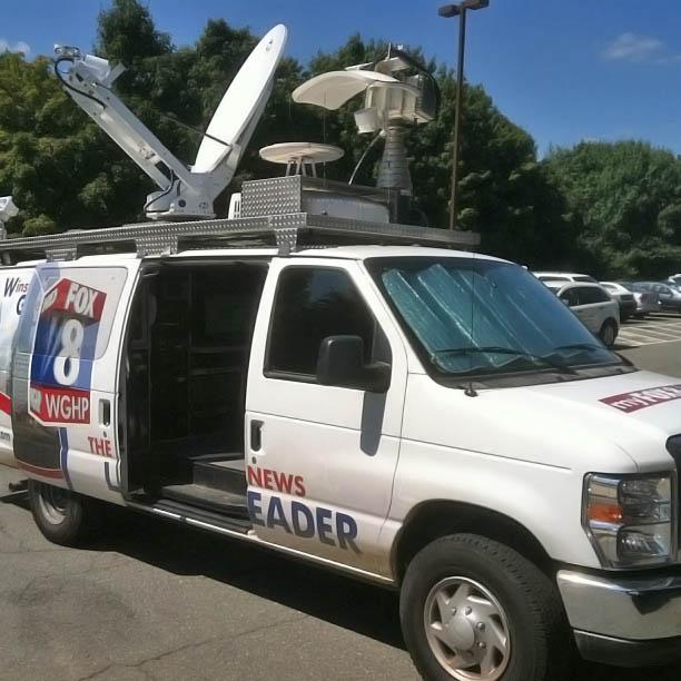 Satellite van for Fox 8 News Cleveland