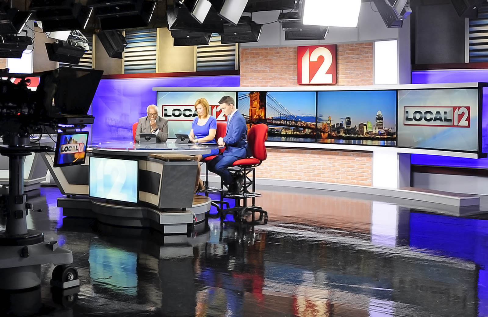 WKRC News live coverage studio