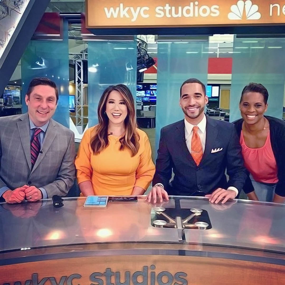 WKYC News anchors at channel studio