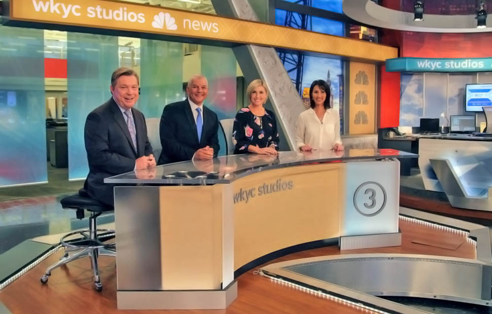 WKYC newscasters at live coverage room