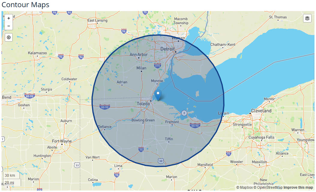 WTOL News 11 coverage map